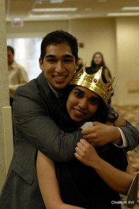Russian Empire: 1905 Crisis Director Chirag Sachar poses with UChicago Head Delegate Nisha Bala at ChoMUN XVI.