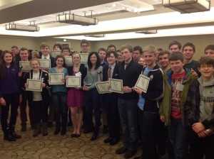 St. Ignatius College Prep celebrates their Best Large Delegation award