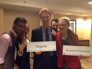 Delegates from Apratim's committee at MUNUC 2014.