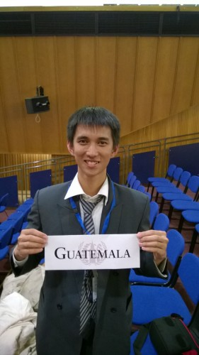 Reinhardt Graciano Rongre, representing Guatemala at UNESCO Committee at LIMUN 2014