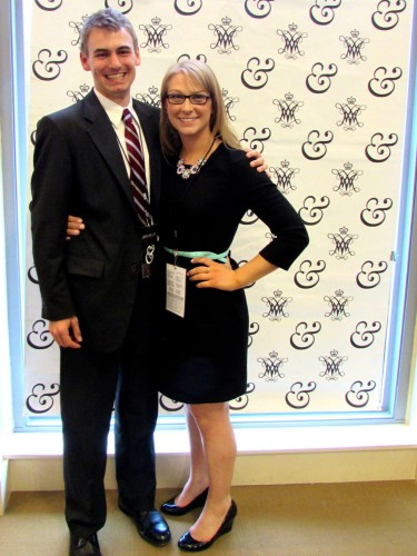 Teamwork: Secretary-General Rachel Fybel poses with Director-General Jared Miller.