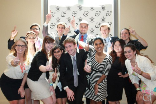 Throwback to &MUN I: The secretariat and staff of &MUN I pose together at Closing Ceremonies.  (Photo Credit to Stephanie Faucher and Lynn Nakamura of &MUN)
