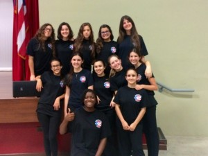 The Forensics Competing team from Colegio Puertorriqueño de Niñas (CPN)