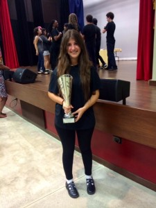 Carmen Ana Nieto, president of her Forensics team, wins first place in Oratory Category 2014