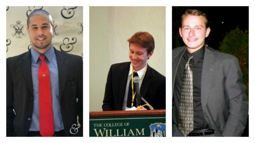 From left to right: Samatar Yonis, Connor Smith, and John Kirn.  (Photos Courtesy of the W&M IRC and &MUN Photographers)
