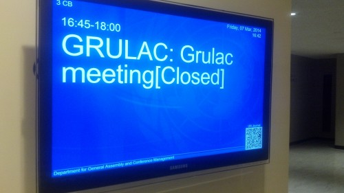 GRULAC Meeting Sign