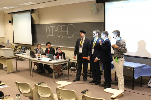 Crisis Staff presenting an update in DISEC.