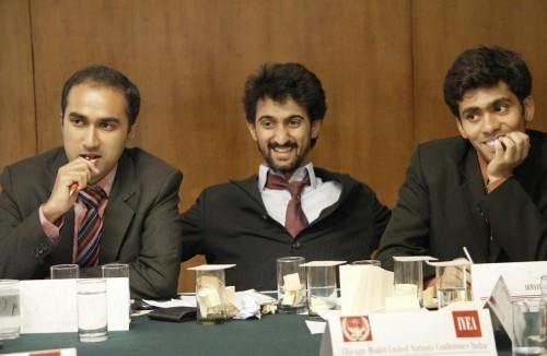 Praneeth Rao, Armaan Shahanshah (Chairs of WSM), Daksh Jaiswal (CoS) Credits: Ramita Chatterjee