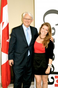 With the High Commissioner of Canada, Gordon Campbell, at the Canada House in London UK