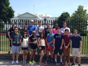Best Delegate's Secretary General Program students monument tour at DC!