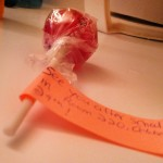 An example of promotional candy for your Model UN club.