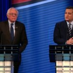 Bernie Sanders engages in a respective debate with Ted Cruz on the merits of Obamacare