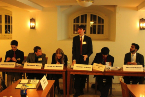 A delegate makes a call to action in the Committee on the Great Charter of 1215