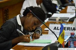 A Delegate Preparing Notes