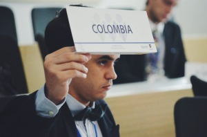 Delegate of Colombia. Photo credits: Laura Arévalo (COLMUN Team)