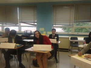 A delegate, Liz Manero, smiles in the JCC India crisis
