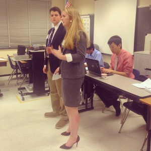 Delegate Morgan Rose and Henry Blaime make their case in the UNDC