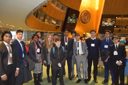 Students from the Stratford School Academy in London visiting the  General Assembly during NHSMUN 2015