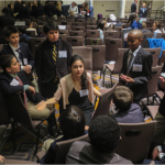 Delegates discuss eradicating poverty in the General Assembly.