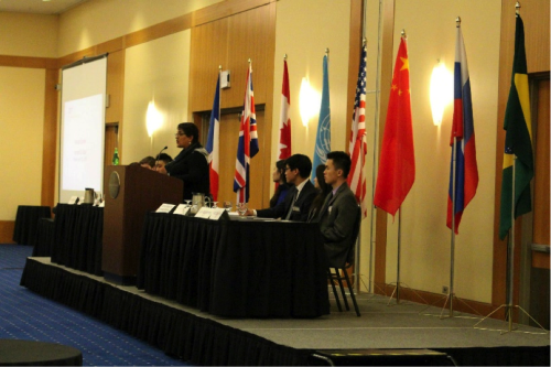 Karimah Es Sabar addresses delegates at the Opening Ceremony on Friday, March 6th.