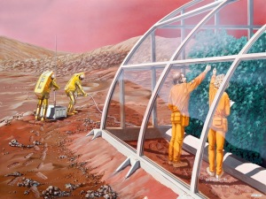 Mars greenhouse by Les Bossinas (1991)