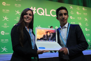 A laptop donation from the John Burroughs School to HELA Afghanistan ( Qatar Leadership Conference)
