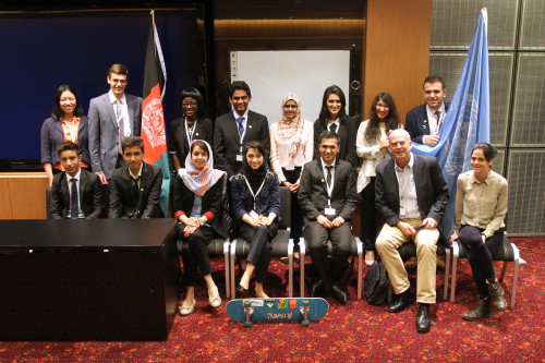 Learning about the world and making friends are intrinsic rewards that are often sacrificed in competitive MUNs. For example, a multinational team of students who attended THIMUN Qatar mentored a group of Afghan students to attend the conference for the first time.