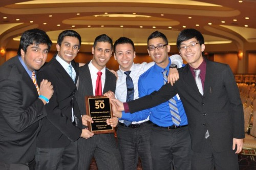 Schools can win delegation awards in Model UN. Here, J.P. Stevens High School won a delegation award at NAIMUN.