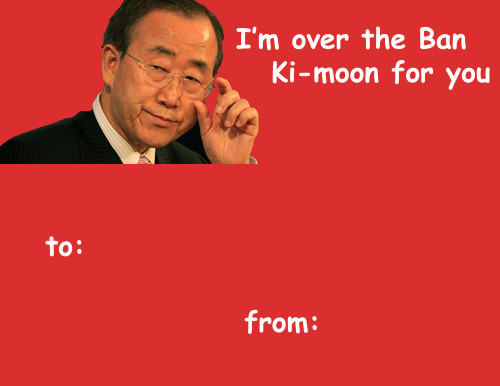 ban ki moon v day card