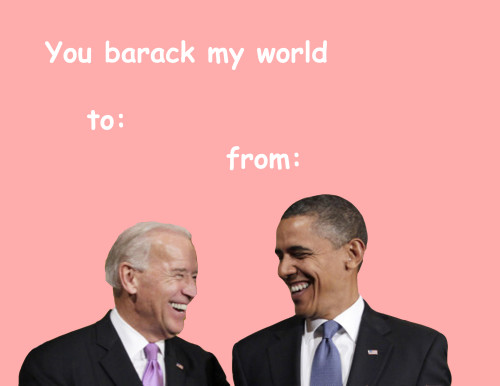 obama valentines day card