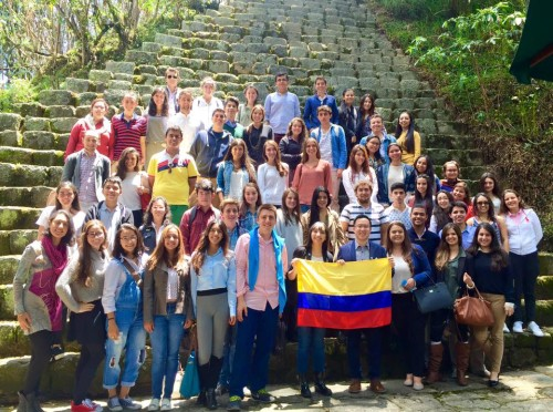 Colombian delegates at the Crisis workshop taught by Best Delegate