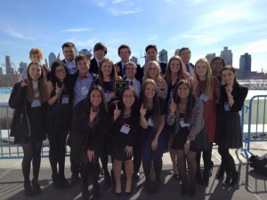 Team photo of the Delegation from Glenbrook South High School