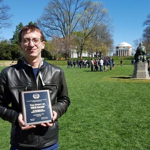 """This award has always been important to me not only because of its uniqueness, but because it exemplifies the qualities that I think delegates should strive for. These are values and ideals [that] translate to real life and make us better leaders for the future."" Kyle S. Wolfe received the Spirit of VICS award this year."