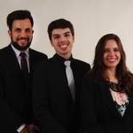 FAMUN 2016 Secretariat. From the left to right: Academic Secretary, Murilo Concon Risso; General Secretary, Renato Peixeiro Filho Pinto; and Administrative Secretary, Maria Rita Martins Favareto.