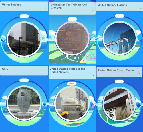 Pokestops outside UN