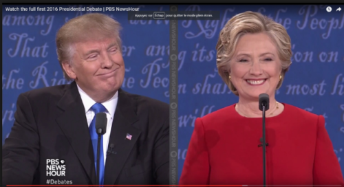 Smiles by Trump and Clinton could be used in a dismissive manner.