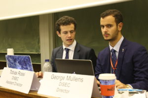 The chairs of DISEC were noted for their . . . professionalism
