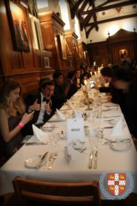 Saturday's formal dinner