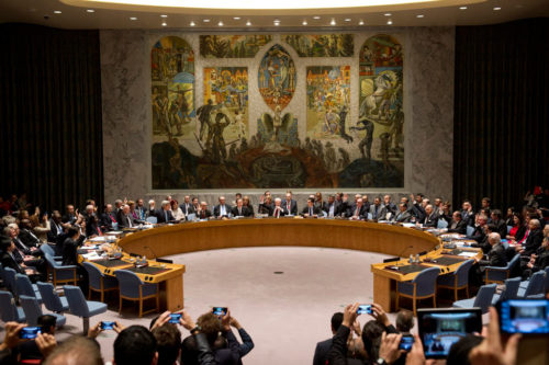 The Security Council Chamber in New York