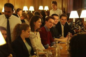 Delegates dining at Oxford during OxIMUN