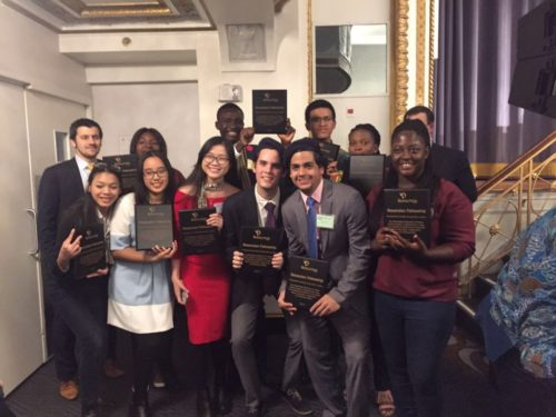 University students receive recognition for their social action projects at The Resolution Project