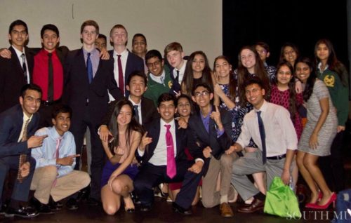 Many of the staff members of SouthMUNC at closing ceremonies. Taken by Aswathy Aji.