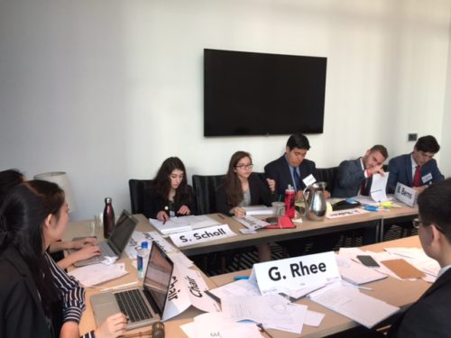The 1984 committee in action at TrojanMUN