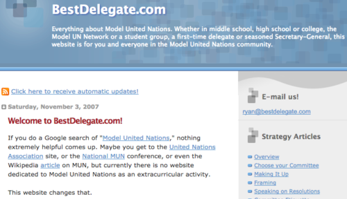 The first blog post on bestdelegate.com