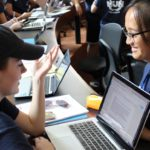 Students working together in Model United Nations